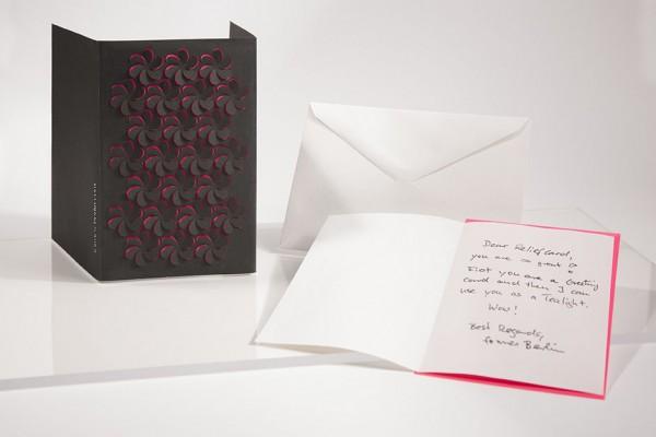 Reliefkarte - Blume schwarz