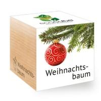 """Ecocube Pflanze im Holzwürfel """"Weihnachtsbaum"""""""