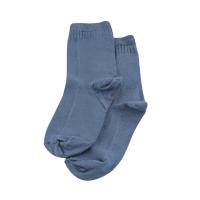 Bambussocken, schmaler Bund, Kinder, jeans-blau