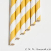 20 Papier-Trinkhalme, gelb