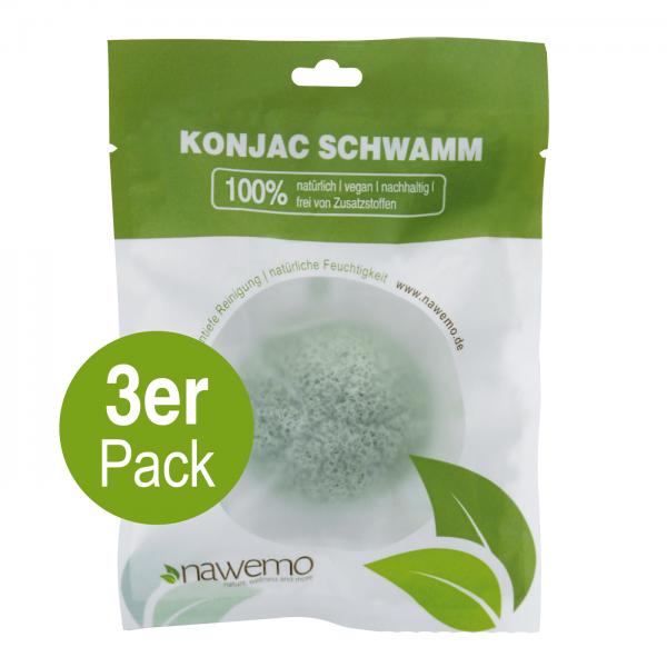Konjac Schwamm Aloe Vera - 3er Vorteilspack