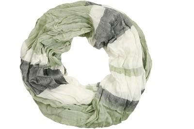"Loop-Schal ""Peter"", grün-grau, 180cmx100cm"