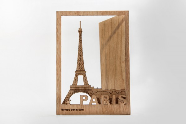 "Zedernholz Postkarte - ""Paris"""