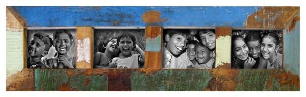 "Fundholz Recycling Bilderrahmen ""Family"", 84cmx22cm"