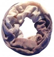 "Loop-Schal ""Yvi"", braun-creme, 180cmx100cm"