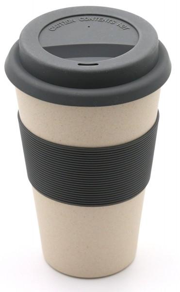 "Kaffeebecher Bambus ""To Go"", natur, 13cm"