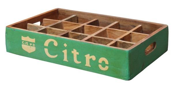 """Fundholz Recycling Getränketablett """"Citro"""", grün-gelb"""