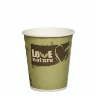 "50 Trinkbecher, Pappe ""pure"" 0,2 l Ø 8 cm · 8,8 cm farbig sortiert ""Love Nature"""