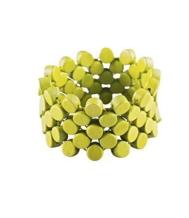 "Naturschmuck - Holzarmband ""Finley"", lime-grün"