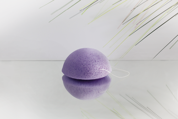 Konjac Schwamm Lavendel - für beanspruchte Haut