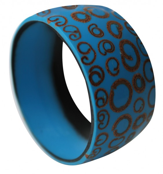 Zimtarmreif, blau