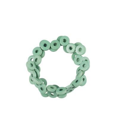 "Naturschmuck - Holzarmband ""Spirale"", mintgrün"