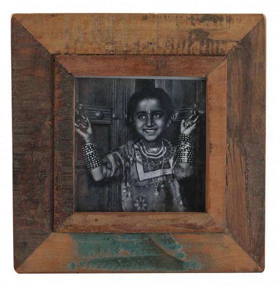 "fundholz recycling bilderrahmen ""quadrat fino"", 28cm x 28cm,"