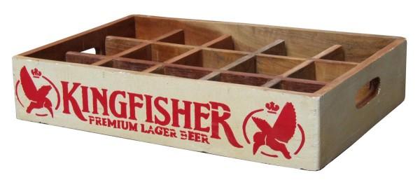 "Fundholz Recycling Getränketablett ""Kingfisher"", weiß-rot"