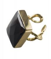 "Ring ""Hedone"", schwarz"