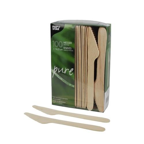 """100 Messer, Holz """"pure"""" 16,5 cm"""