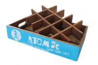 "Fundholz Recycling Getränketablett ""Atomic"", blau"