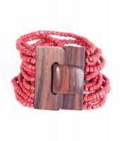 """Naturschmuck - Glasperlenarmband """"Fibbia"""", rot"""