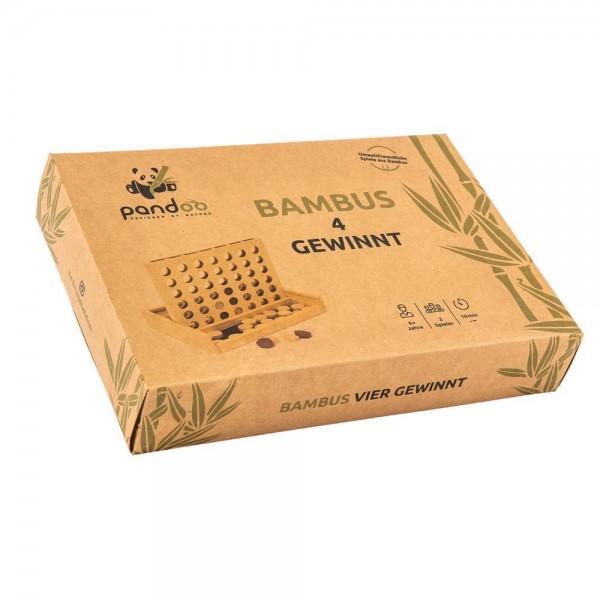 Vier Gewinnt aus Bambus und Holz