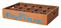 "Fundholz Recycling Getränketablett ""Fayrouz"", orange-blau"