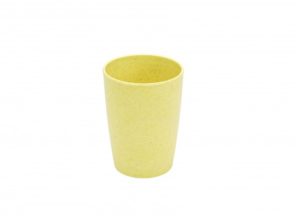 Trinkbecher Bambus, gelb