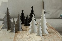 Deko Weihnachtsbaum in drei Größen, weiß aus Öko-Filz
