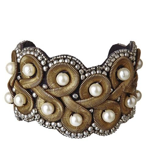 """Perlenarmreif """"Versailles"""", gold"""