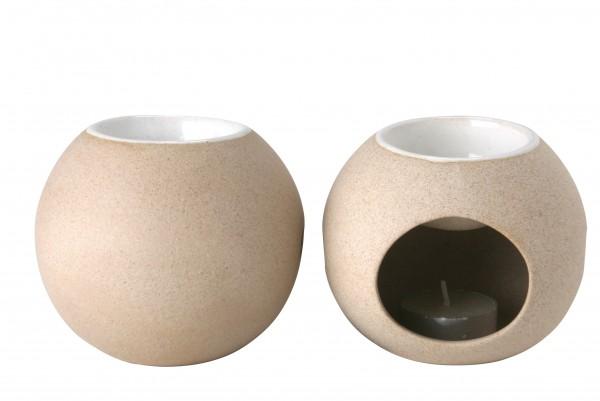Duftstövchen aus Keramik, beige