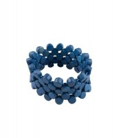 "Naturschmuck - Holzarmband ""Finley"", blau"