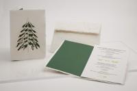 Büttenpapier Grußkarte - Tannenbaum, handgeschöpft
