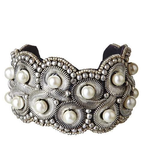 """Perlenarmreif """"Versailles"""", silber"""