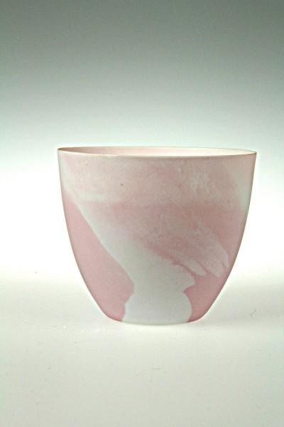 Windlicht Porzellan marmoriert, rosa