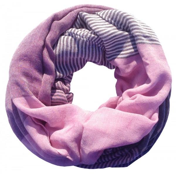 "Loop-Schal ""Yvi"", lila-rosa, 180cmx100cm"