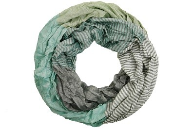 "Loop-Schal ""Yvi"", dunkelgrün-grau, 180cmx100cm"