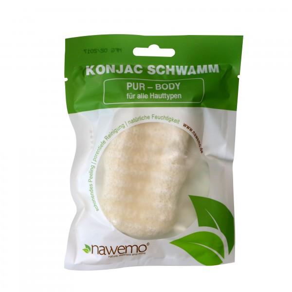 Konjac Schwamm BODY Pur, für alle Hauttypen