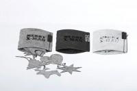 Weihnachtsbaumschmuck - 8er Set, weiß aus Öko-Filz