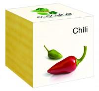 "Ecocube Pflanze im Holzwürfel ""Chili"""