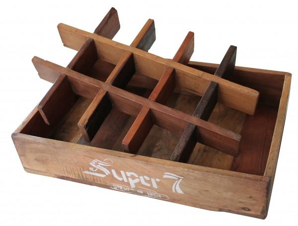 """Fundholz Recycling Getränketablett """"Super7"""", natur"""