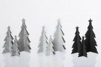 Deko Weihnachtsbaum in drei Größen, schwarz aus Öko-Filz