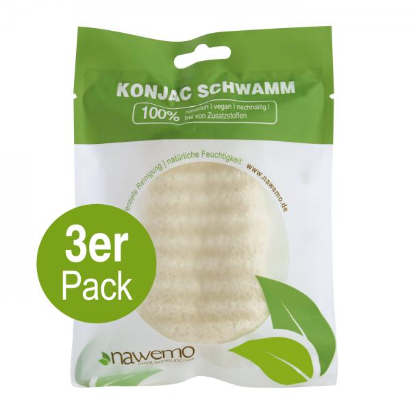 Konjac Schwamm BODY Pur - 3er Vorteilspack