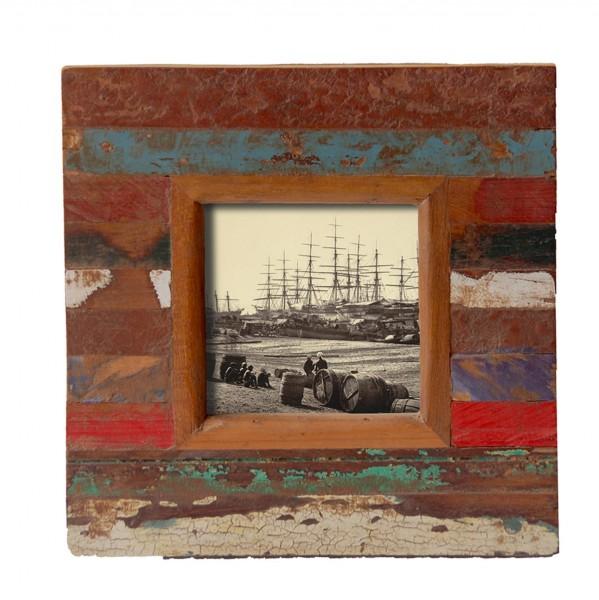 "Fundholz Recycling Bilderrahmen ""Quadrat Trinidad"", 20cm x 20cm"