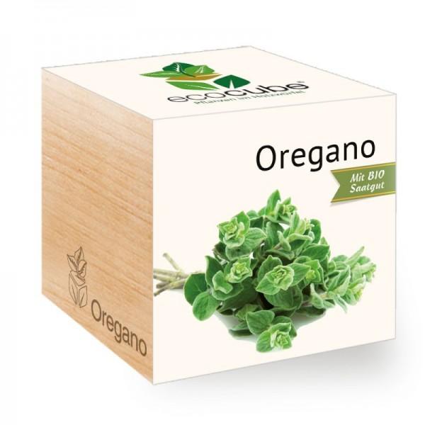 "Ecocube Pflanze im Holzwürfel ""Oregano"""