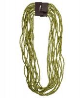 """Naturschmuck - Glasperlenkette """"Lillian"""", grün"""
