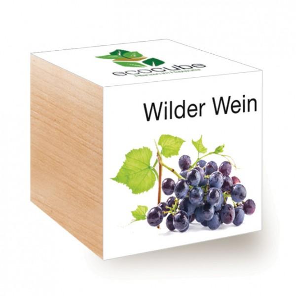 """Ecocube Pflanze im Holzwürfel """"Wilder Wein"""""""