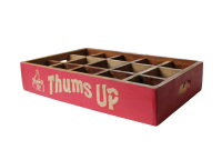 "Fundholz Recycling Getränketablett ""Thums Up"", rot"