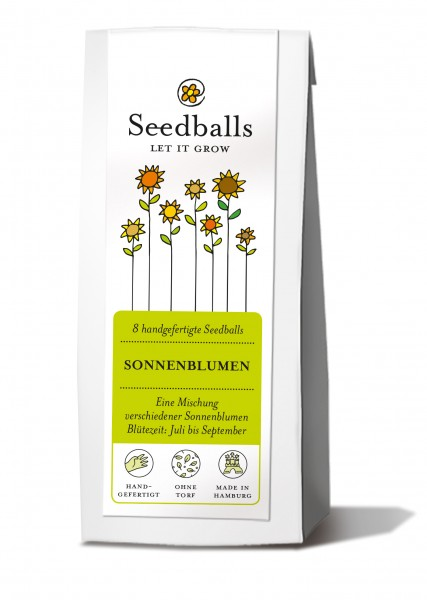 Seedballs Sonnenblumenmischung (8 Stk.)