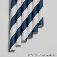 20 Papier-Trinkhalme, blau