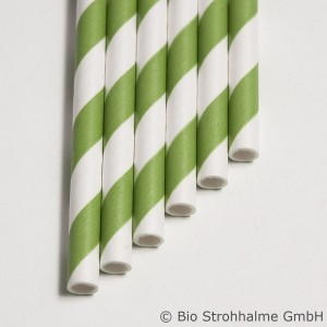 20 Papier-Trinkhalme, grün