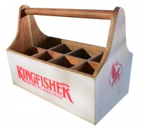 """Fundholz Recycling Flaschenträger """"Kingfisher"""", weiß"""