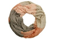 "Loop-Schal ""Dennis"", orange-dunkelbraun, 180cmx100cm"